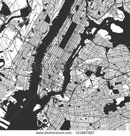 Manhattan Map Stock Images, Royalty Free Images & Vectors Regarding Manhattan Map Wall Art (Image 9 of 20)