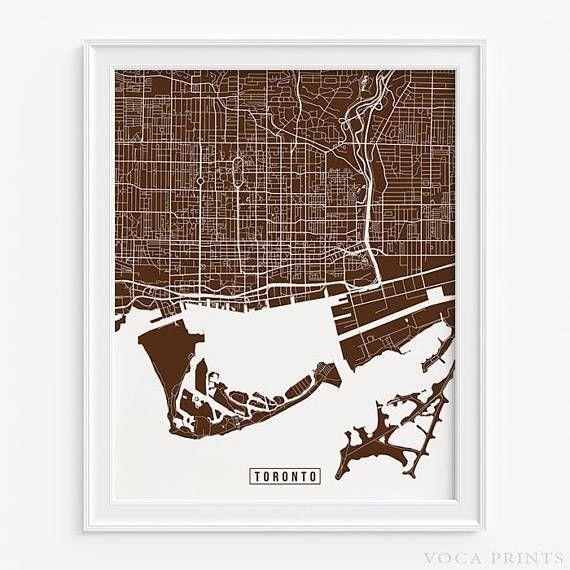 Mer Enn 25 Bra Ideer Om Toronto Canada Map På Pinterest | Toronto Regarding Map Wall Art Toronto (Image 7 of 20)