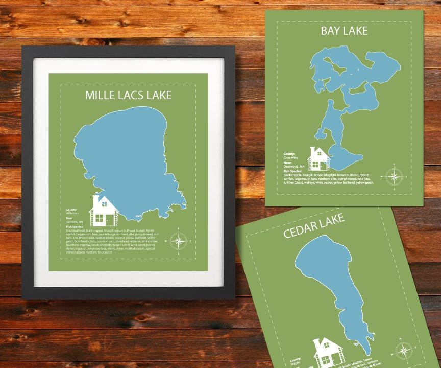 Featured Image of Lake Map Wall Art