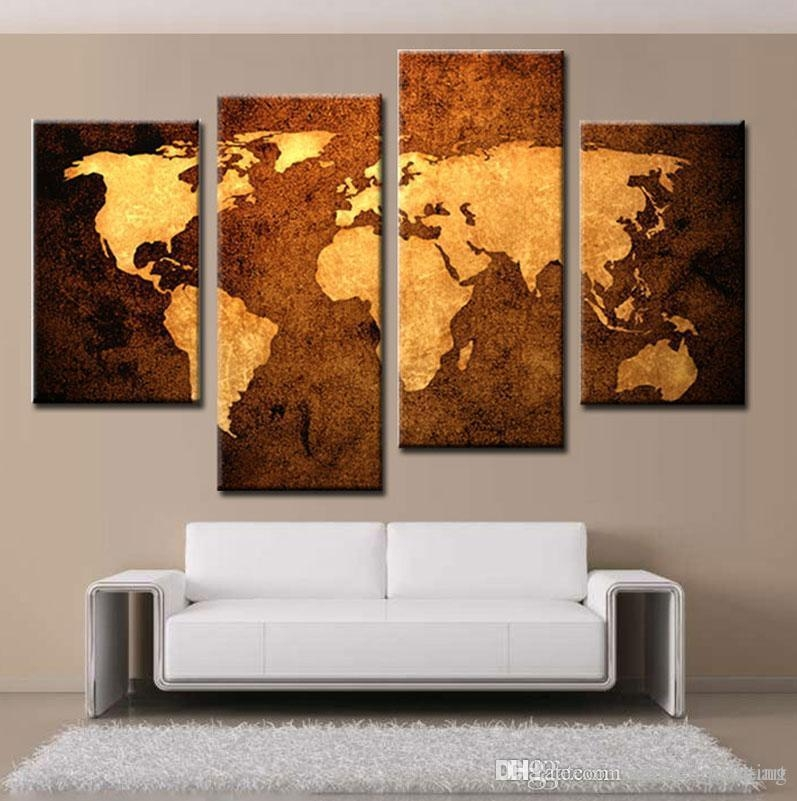 Modern Art Space World Map Paintings Home Wall Art Canvas Printing With World Map Wall Art Canvas (Image 11 of 20)