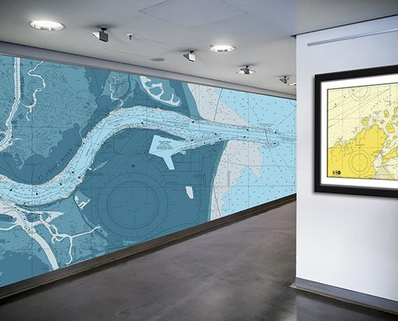 Nautical Chart Wallpaper | Nautical Map Wallpaper | Navigation For Nautical Map Wall Art (Image 15 of 20)