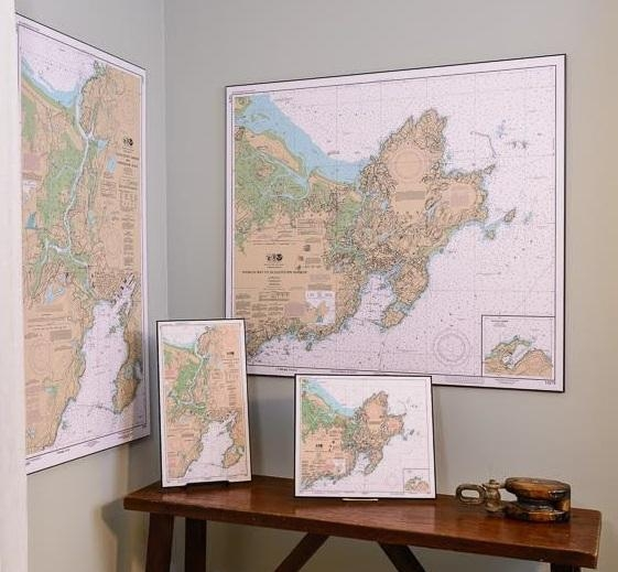 Nautical Charts | Artiplaq For Nautical Map Wall Art (View 3 of 20)