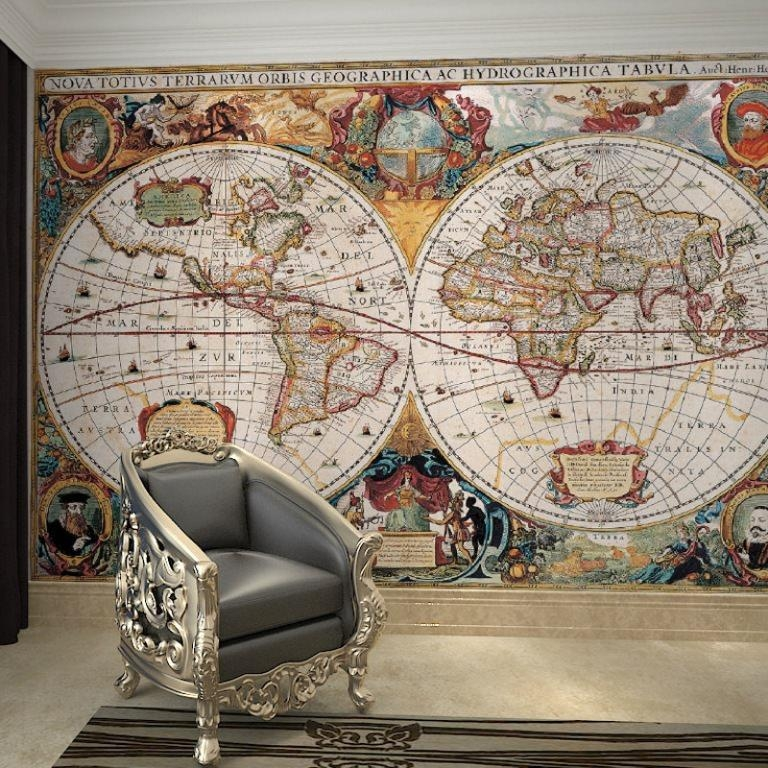 Nautical Map Wallpaper Large — Tedx Designs : Beautiful Nautical Regarding Nautical Map Wall Art (View 13 of 20)