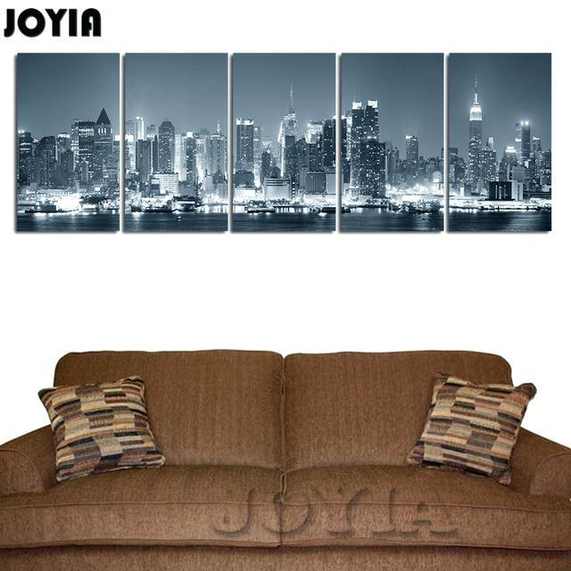 New York City Wall Art New Canvas Print Wall Art Multi Panel Decor Throughout New York City Map Wall Art (View 17 of 20)