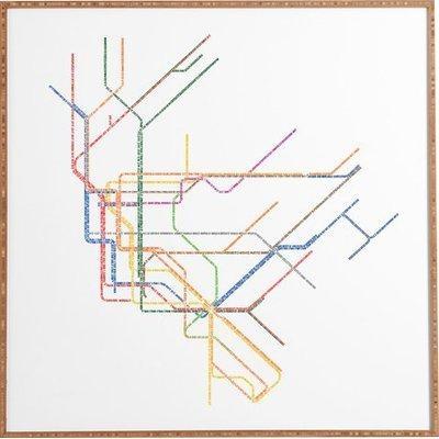 Nyc Subway Map' Framed Wall Art & Reviews | Allmodern In Nyc Subway Map Wall Art (Image 7 of 20)