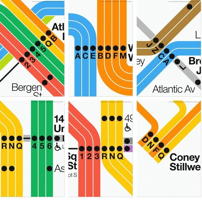 Nyc Subway Posters From Massimo Vignelli And Superwarmred Designs For New York Subway Map Wall Art (Image 12 of 20)