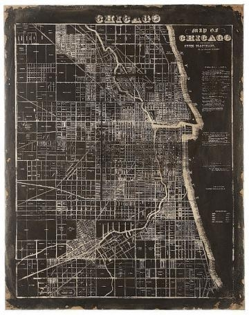 Of Chicago Wall Plaque – Unframed Art – Wall Decor – Home Decor For Chicago Map Wall Art (Image 19 of 20)