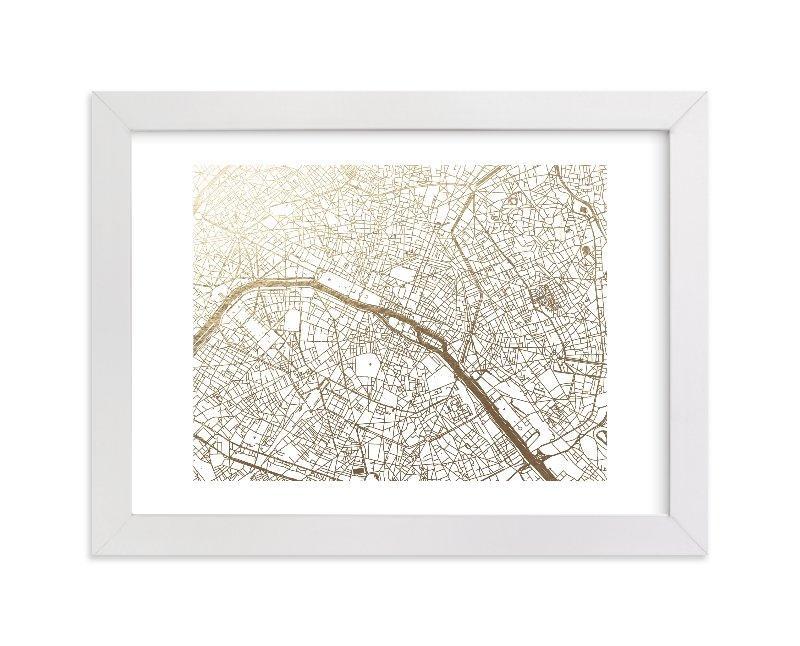 Paris Map Foil Pressed Wall Artalex Elko Design | Minted Within Paris Map Wall Art (Image 11 of 20)