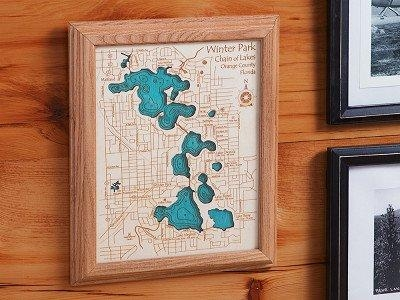 Personalized Wall Art And Cribbage Boards From Lake Art For Lake Map Wall Art (View 5 of 20)