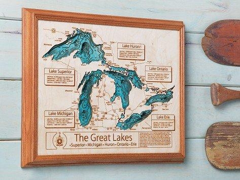 Personalized Wall Art And Cribbage Boards From Lake Art For Lake Map Wall Art (View 2 of 20)