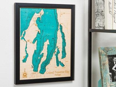 Personalized Wall Art And Cribbage Boards From Lake Art With Regard To Lake Map Wall Art (View 7 of 20)