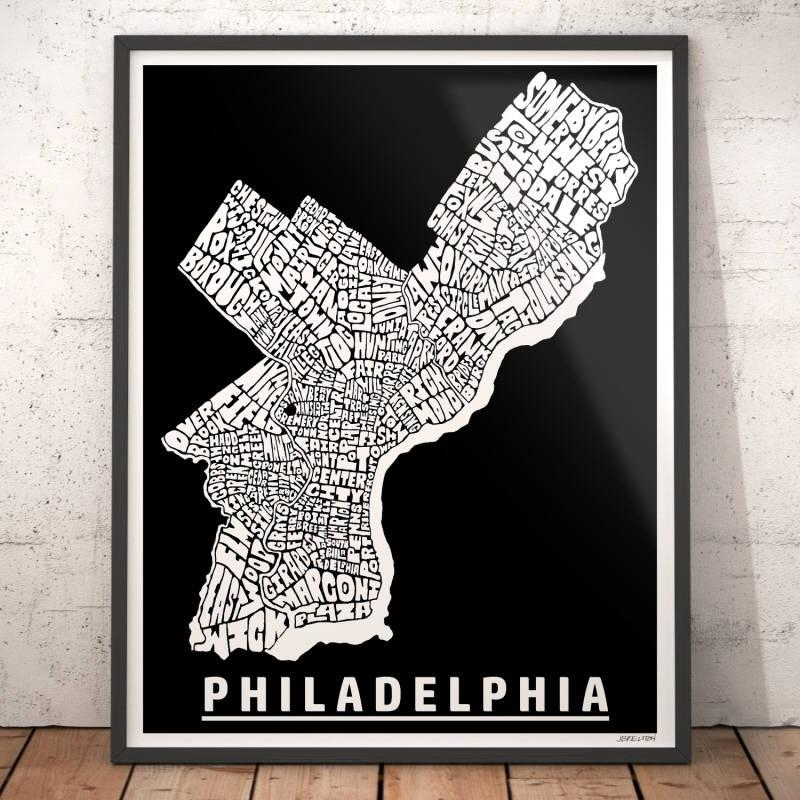 Philadelphia Map Art Philadelphia Art Print Philadelphia Intended For Philadelphia Map Wall Art (View 8 of 20)