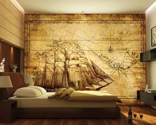 Photo Wall Mural Grand Explorer 400X280 Wall Decor Wallpaper Wall With Regard To Treasure Map Wall Art (Image 8 of 20)