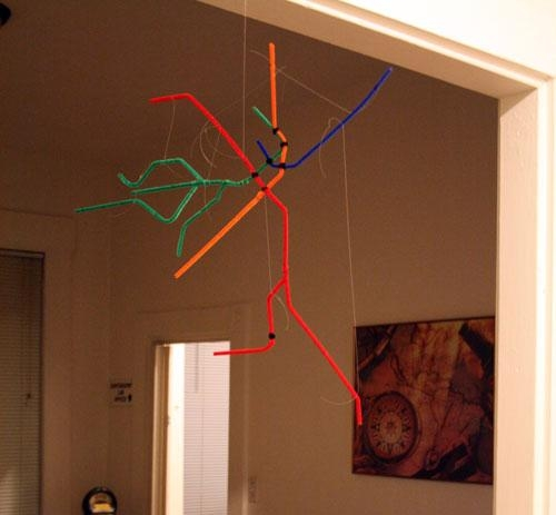 Pipe Cleaner Subway Map | Andy Woodruff Regarding Boston Map Wall Art (Image 17 of 20)