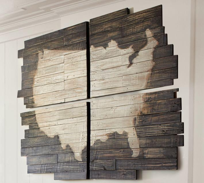 Planked Usa Wall Art Panels | Pottery Barn Throughout Usa Map Wall Art (Image 4 of 20)