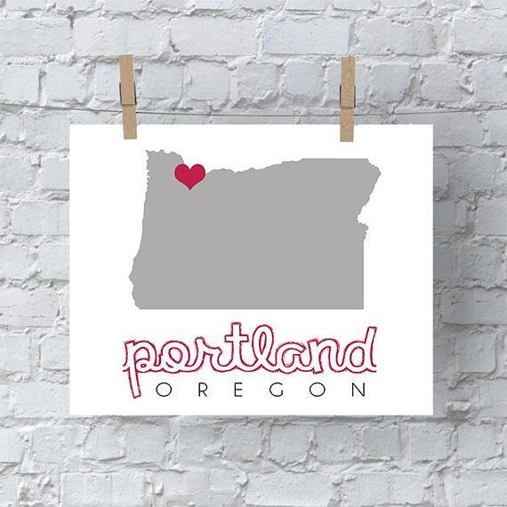 Portland Map Wall Art Portland Wall Art Portland Map Oregon Intended For Portland Map Wall Art (View 9 of 20)