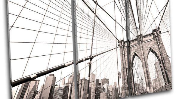 Pretty Design Brooklyn Wall Art Bridge Canvas Metal Ny Glass Regarding Brooklyn Map Wall Art (Image 10 of 20)