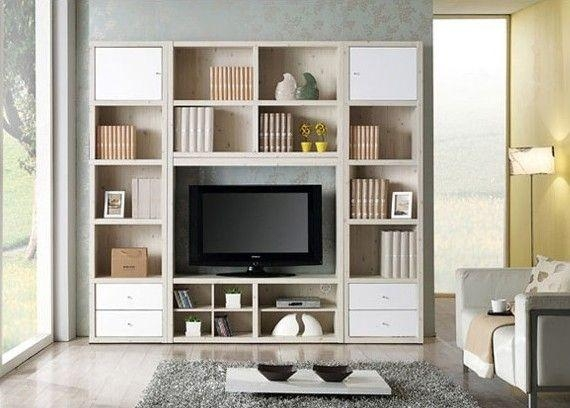 Recent Tv Stands And Bookshelf Pertaining To Wall Units Astounding Cabinet Bookcase