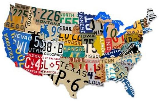 Remodelaholic | License Plate Map Wall Art Within License Plate Map Wall Art (Image 15 of 20)