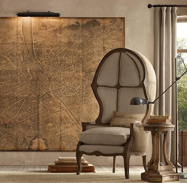 Restoration Hardware Paris Map Knock Off Pertaining To Paris Map Wall Art (Image 15 of 20)