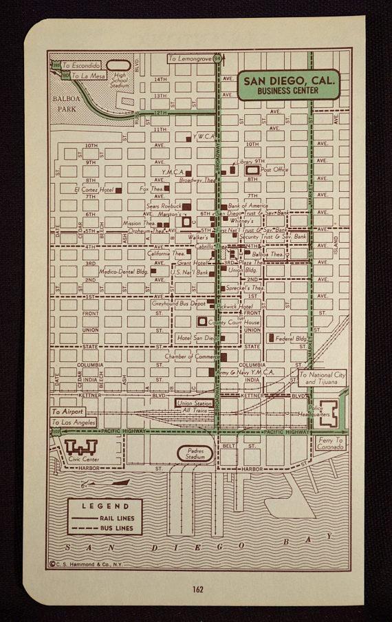 San Diego Map San Diego Street Map Wall Art City California With San Diego Map Wall Art (Image 19 of 20)