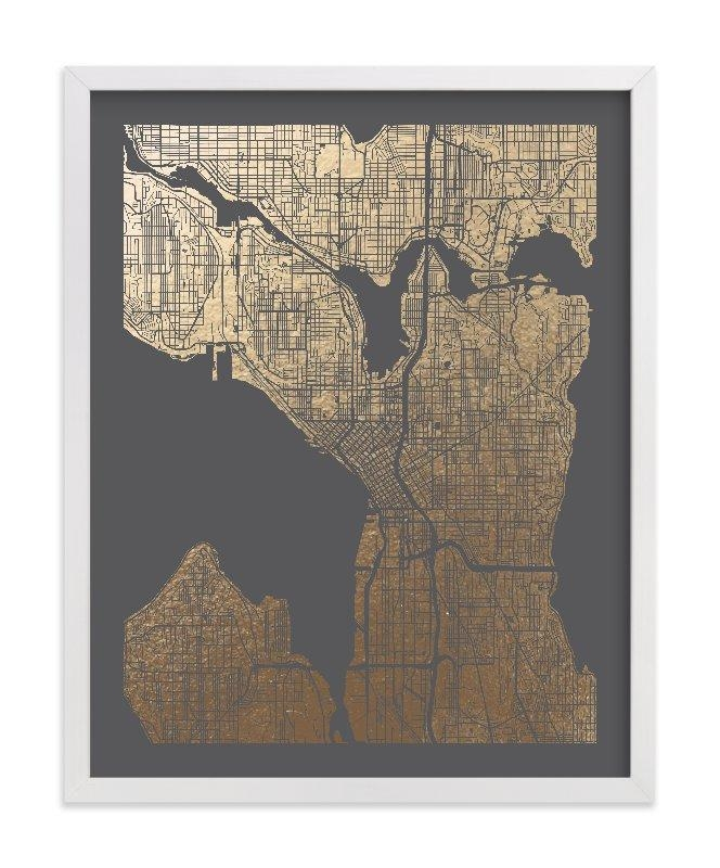 Featured Photo of Seattle Map Wall Art
