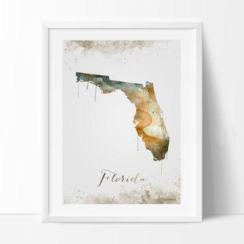 Shop Florida Map Art On Wanelo With Florida Map Wall Art (Image 17 of 20)