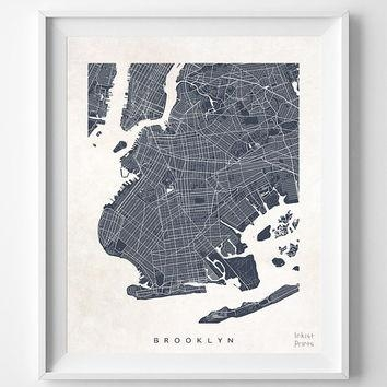 Shop New York Room Decor On Wanelo Within Brooklyn Map Wall Art (Image 12 of 20)
