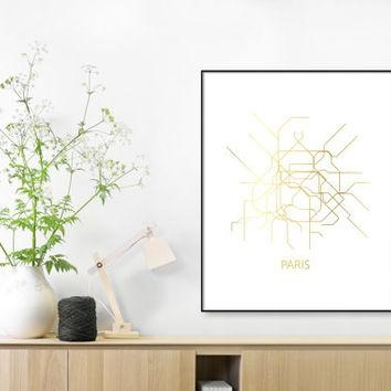 Shop Subway Map Print On Wanelo With Metro Map Wall Art (Image 13 of 20)