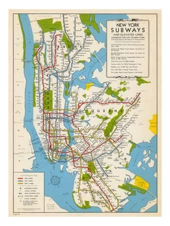 Subway Maps Posters At Allposters In New York Subway Map Wall Art (View 12 of 20)
