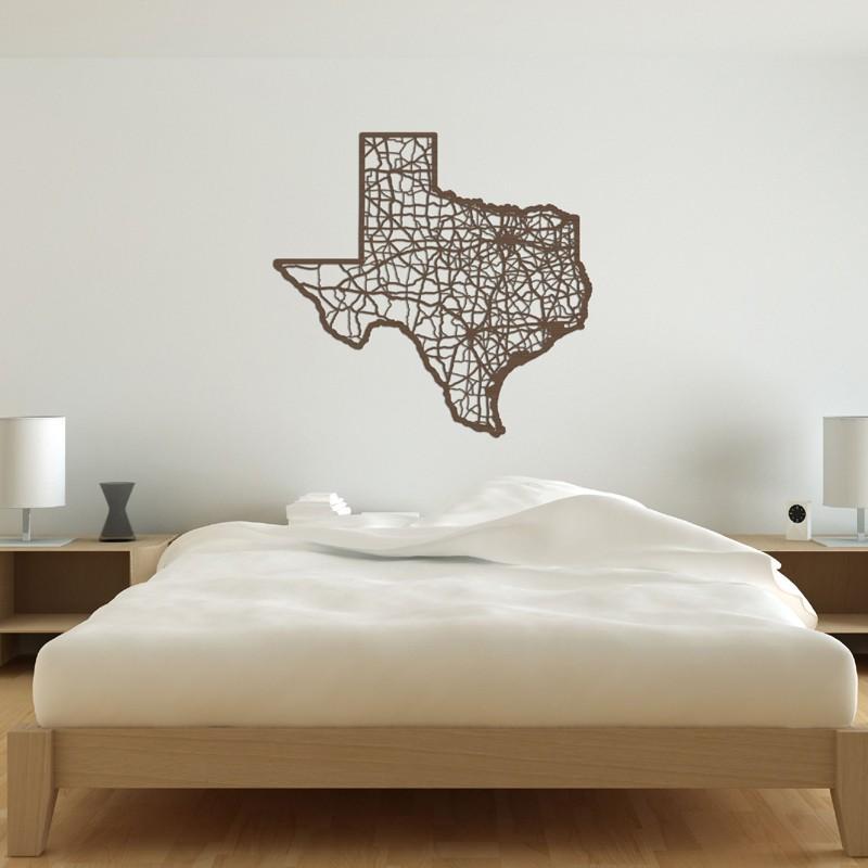Texas Map Wooden Wall Artcut Maps - Rosenberryrooms regarding Texas Map Wall Art