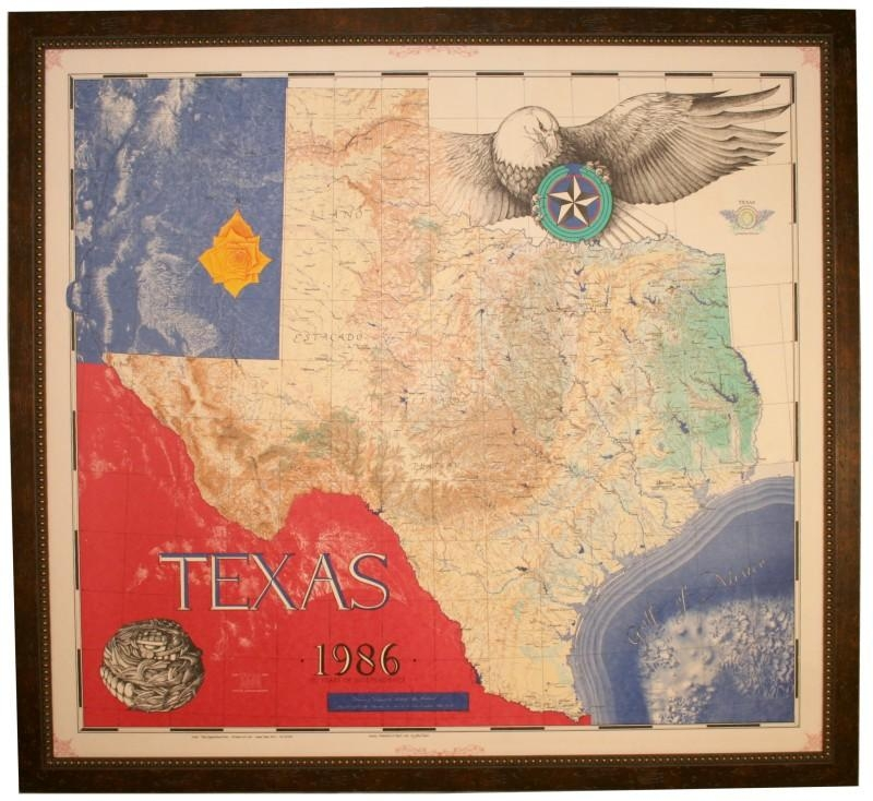 Texas Office Decor For Wall Floor And Office Furniture Pertaining To Texas Map Wall Art (Image 19 of 20)