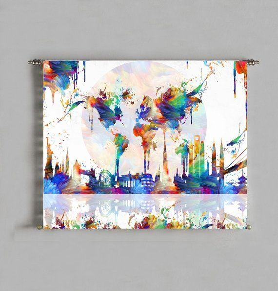 The 25+ Best World Map Painting Ideas On Pinterest | World Map Throughout Abstract World Map Wall Art (View 18 of 20)