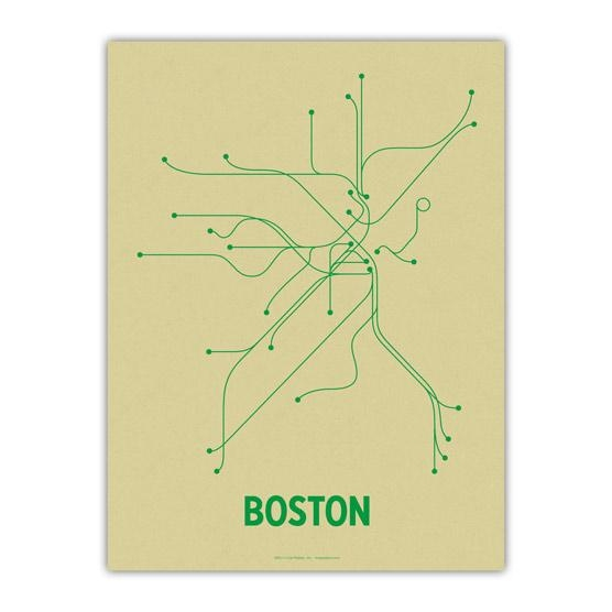 The Mbta Transit Map As Wall Art – Boston Magazine Intended For Boston Map Wall Art (View 7 of 20)