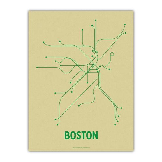 The Mbta Transit Map As Wall Art – Boston Magazine Within Subway Map Wall Art (View 7 of 20)