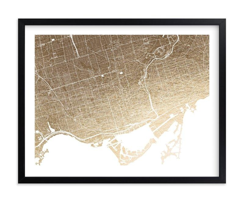 Toronto Map Foil Pressed Wall Artalex Elko Design | Minted Pertaining To Map Wall Art Toronto (Image 15 of 20)