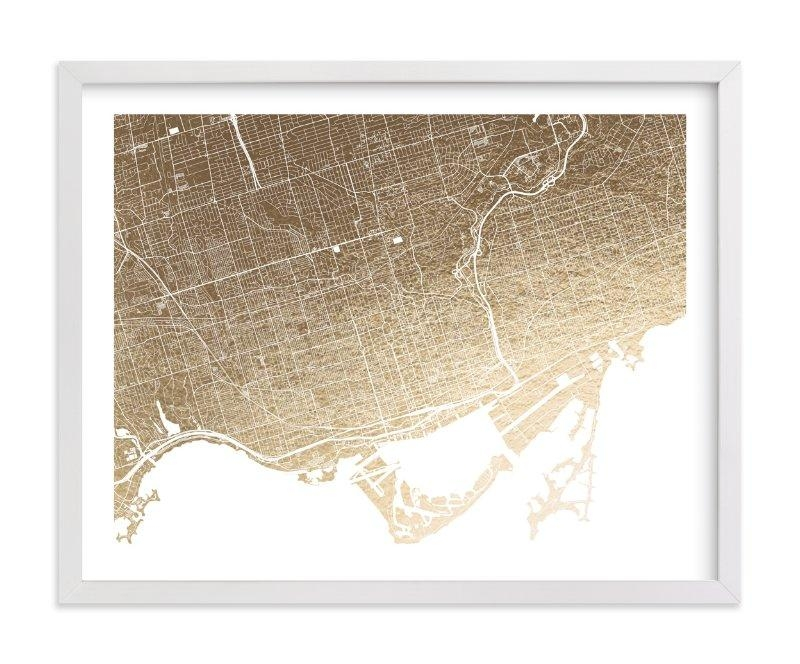 Toronto Map Foil Pressed Wall Artalex Elko Design | Minted Throughout Toronto Map Wall Art (Image 15 of 20)