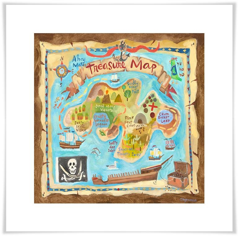 Treasure Map, Pirate Canvas Wall Art | Oopsy Daisy Regarding Treasure Map Wall Art (Image 16 of 20)