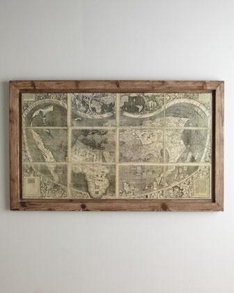 Treasure Map' Wall Art – Neiman Marcus Intended For Treasure Map Wall Art (Image 17 of 20)