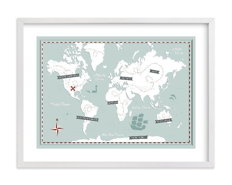 Treasure Map Wall Art Printsjessie Steury | Minted Pertaining To Treasure Map Wall Art (Image 15 of 20)
