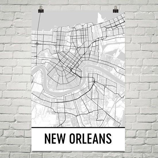 Trendy Inspiration Ideas New Orleans Wall Decor Decals Themed Within New Orleans Map Wall Art (View 13 of 20)