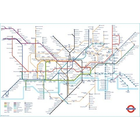 Tube Map Poster | London Transport Museum Shop Intended For Tube Map Wall Art (Image 18 of 20)