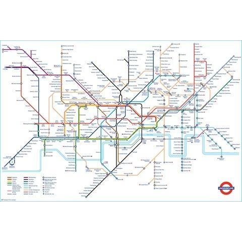 Tube Map Poster | London Transport Museum Shop Regarding London Tube Map Wall Art (Image 18 of 20)