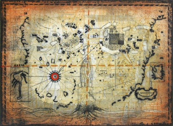 Untitled – Treasure Map Original Artthomas O Donohue :: Picassomio With Regard To Treasure Map Wall Art (Photo 3 of 20)