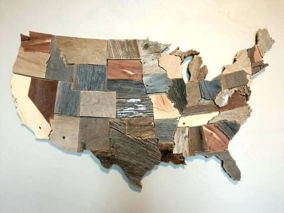 Us Map Wall Art Like This Item World Map Wood Wall Art Diy For Wood Map Wall Art (Image 8 of 20)