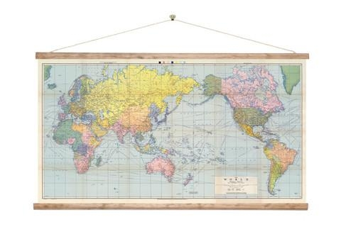 Vintage World Wall Map Canvas Print For Sale – New Zealand Art Prints In New Zealand Map Wall Art (Image 15 of 20)