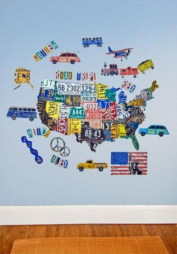 Wall Art Decor: Terrific Usa Map Wall Art Images For Your With Regard To Usa Map Wall Art (Image 12 of 20)