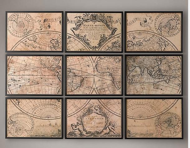 Wall Art Designs: Astounding World Decor Maps As Wall Art Vintage Throughout Vintage World Map Wall Art (View 9 of 20)