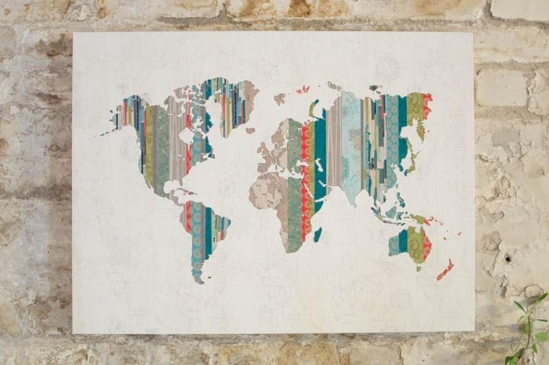 Wall Art Designs: Awesome Best Hanging World Maps Wall Art Decor Throughout Map Wall Art Maps (Image 12 of 20)