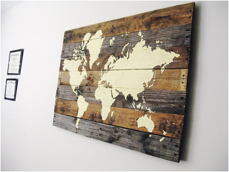 Wall Art Designs: Framed Map Of The World Wall Art Hanging Large In Framed Map Wall Art (Image 13 of 20)